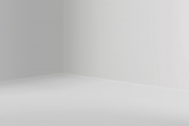 Empty show room with square corner Premium Vector