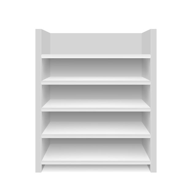 Пустая витрина. изолированная иллюстрация. графическая концепция для вашего дизайна Premium векторы