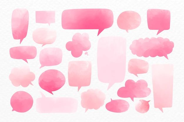 Empty speech bubbles Free Vector