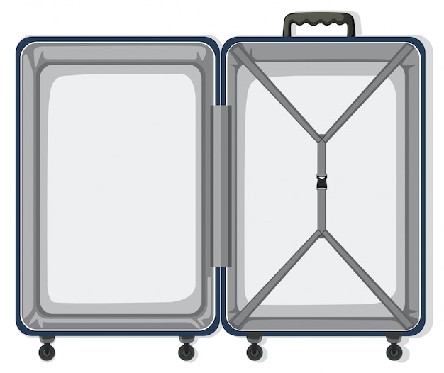 An empty travel luggage Free Vector