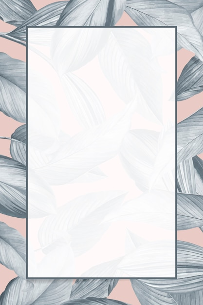 Empty tropical background frame Free Vector