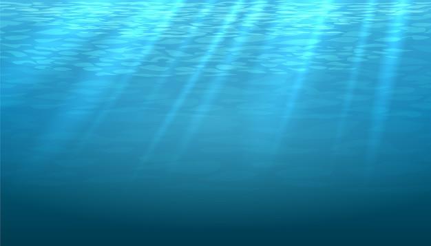 Пустой подводный синий блеск абстрактного фона. светлый и яркий, чистый океан или море Бесплатные векторы