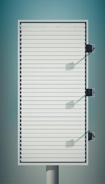 Пустой вертикальный рекламный щит Бесплатные векторы