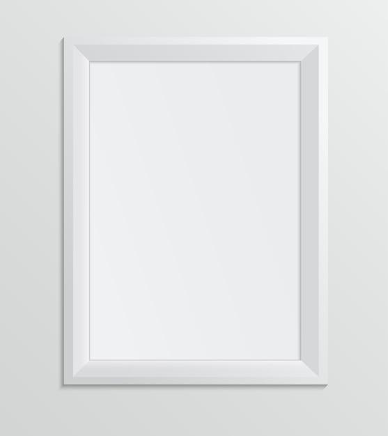 Empty white frame on a white background Premium Vector