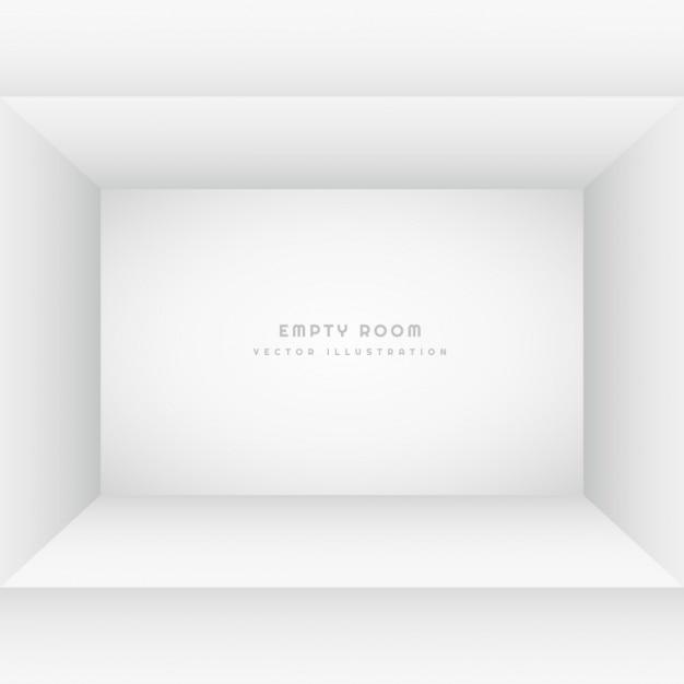 Empty white room Free Vector