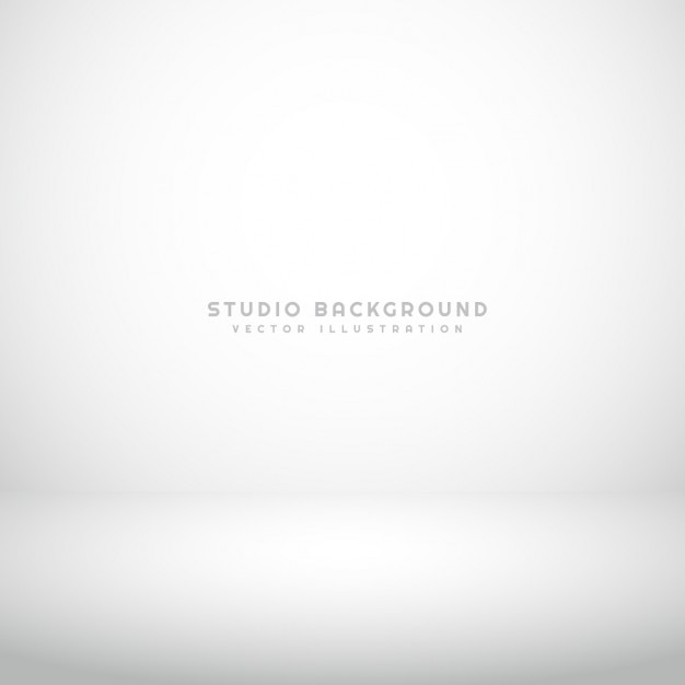 Empty white studio background Free Vector
