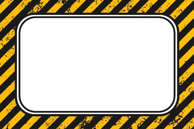 空の黄色黒ストライプグランジ背景 無料ベクター
