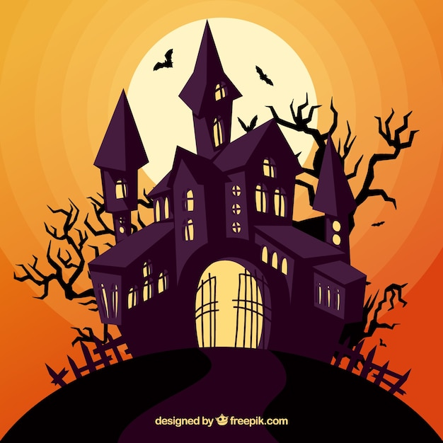 enchated halloween house free vector - Halloween House Pictures