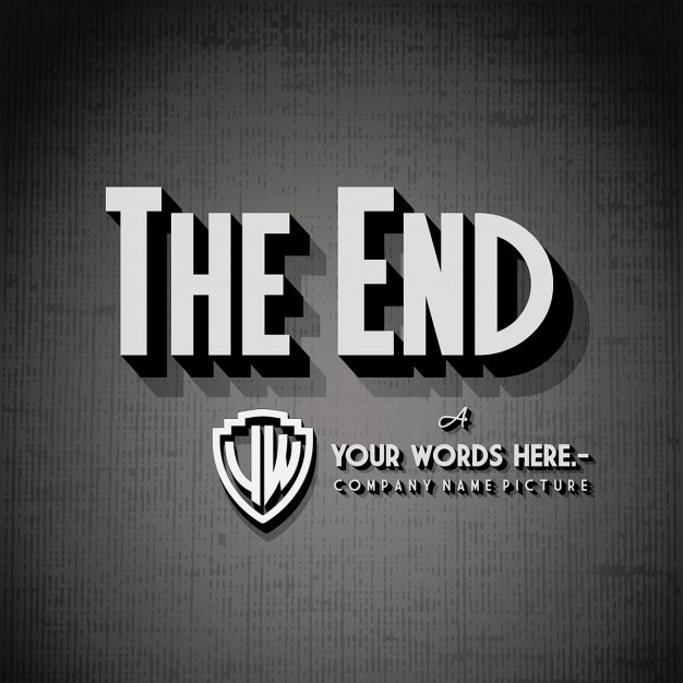 End Credits Background Free Vector