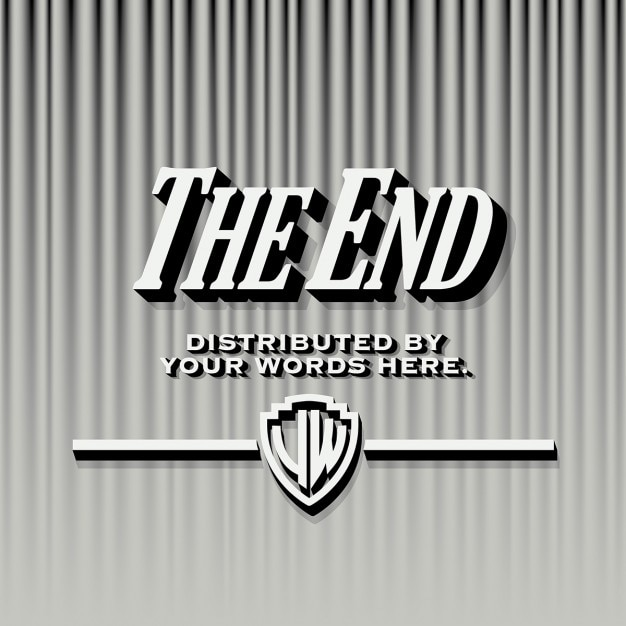end credits template vector free download