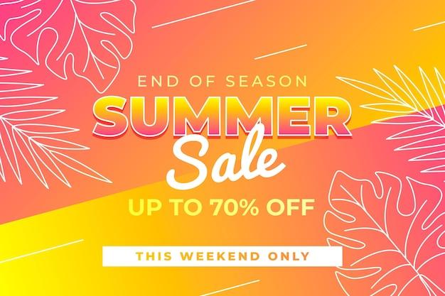 Летняя распродажа в конце сезона Premium векторы