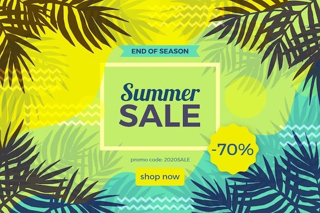 End of season summer sale illustration with big offer Premium Vector