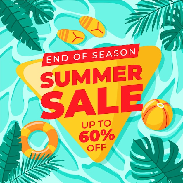 Free Vector | End of season summer sale