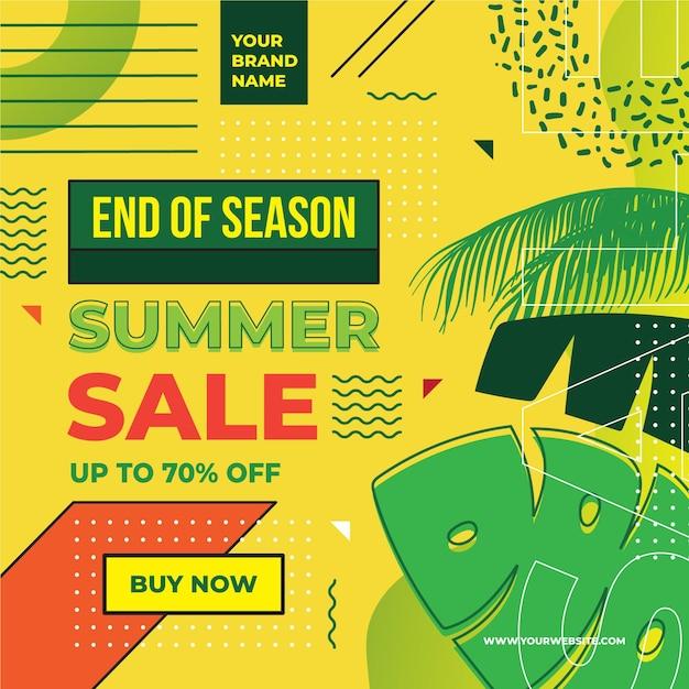 Saldi estivi di fine stagione Vettore gratuito