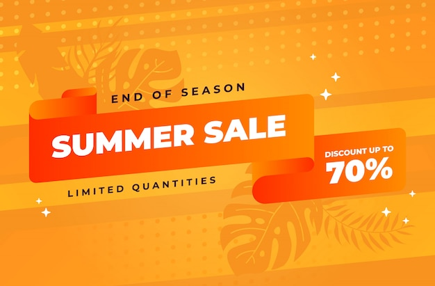 End of summer sale background with limited quantity discount Premium Vector