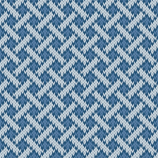 Endless seamless knitted woolen pattern based on the celtic knot Premium Vector