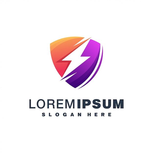 Energy colorful logo design Premium Vector