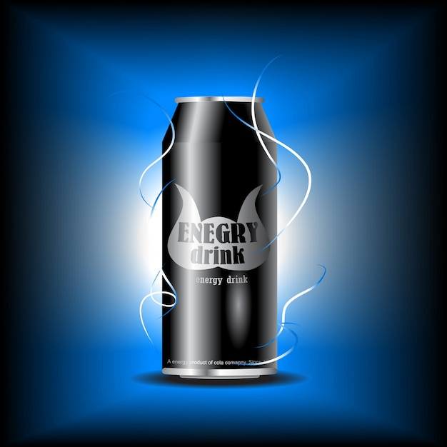 Energy drink design Free Vector