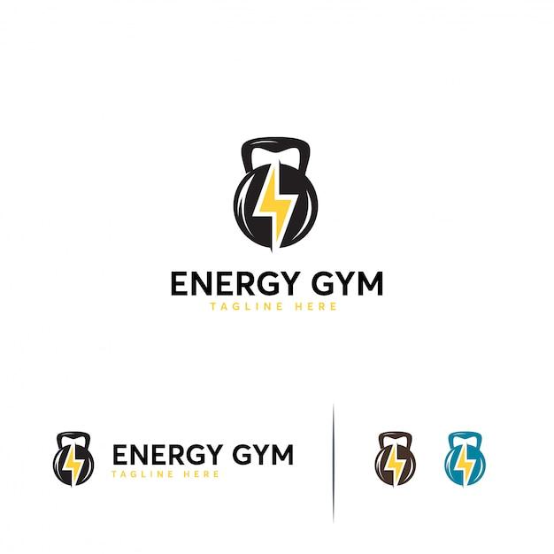 Energy gym logo template Premium Vector