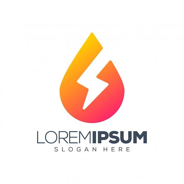 Energy logo   illustration Premium Vector