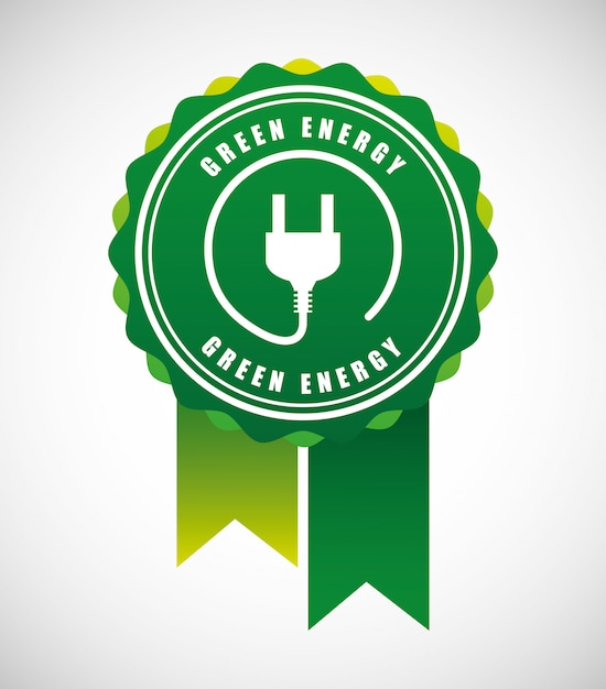 Energy power design Free Vector