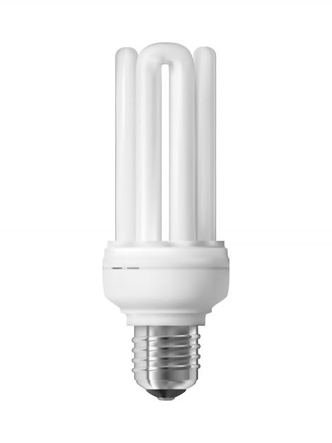 Energy saving light bulb Premium Vector