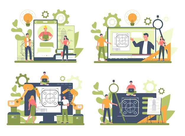 Разработка онлайн-сервиса или платформы на различных концептуальных устройствах Premium векторы