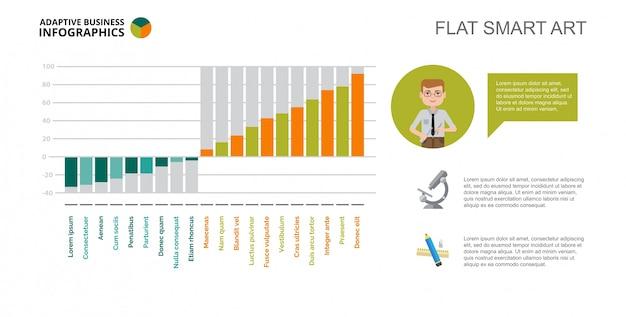 Engineering Bar Chart Slide Template Free Vector  Bar Chart Template