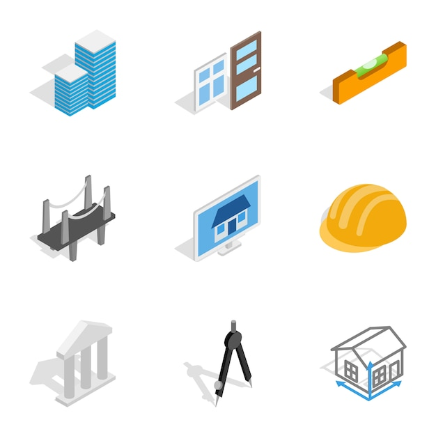 Engineering and construction icons Premium Vector