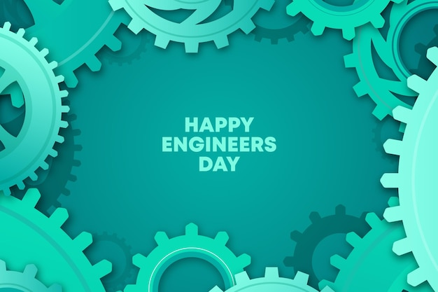 Engineers day celebration theme Free Vector
