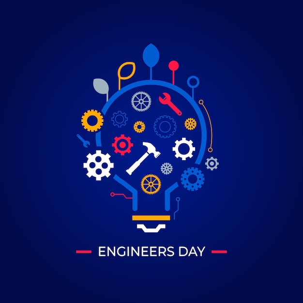 Engineers day celebration Free Vector