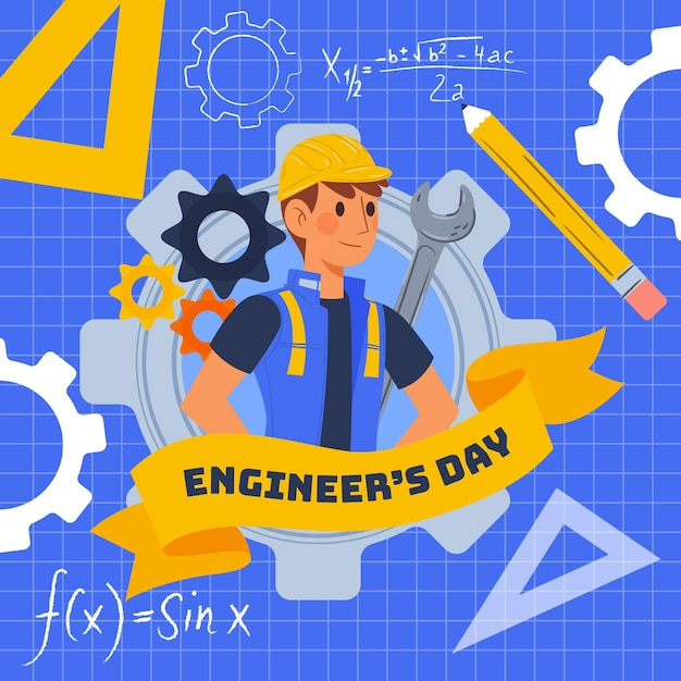 Engineers day event Free Vector