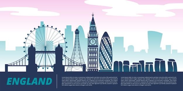 England landmark illustration Premium Vector