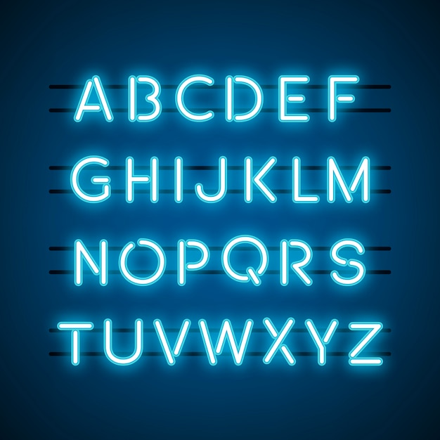 The english alphabet capital letters vector Free Vector