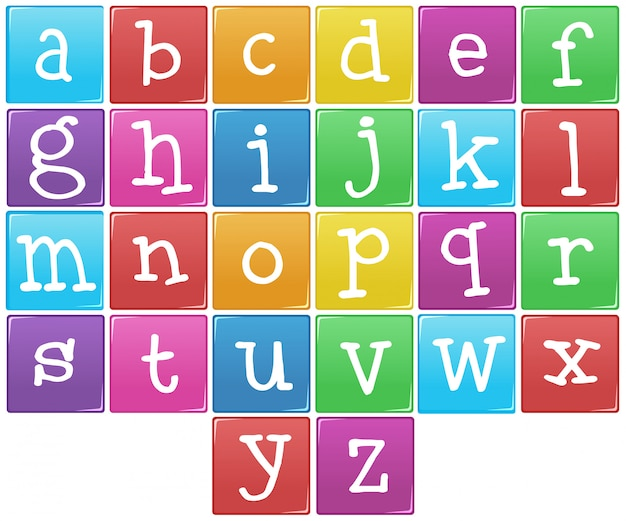English alphabet from a to z Free Vector