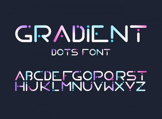 English alphabet gradient letters flat vector set Free Vector