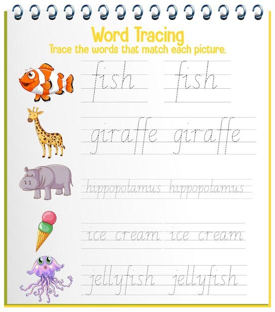 Free Vector English Alphabet Tracing Worksheets