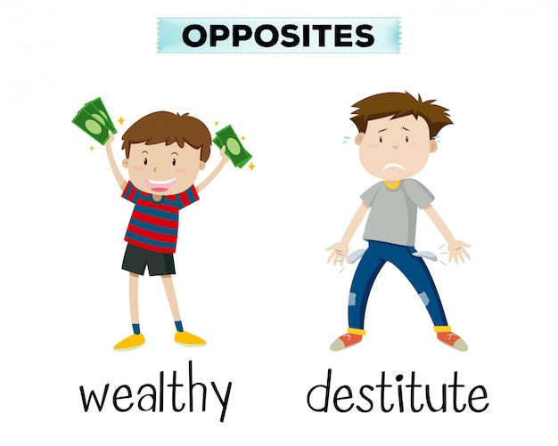 English opposite vocabulary word Free Vector