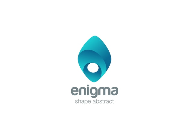 エニグマのロゴのアイコン。 Premiumベクター