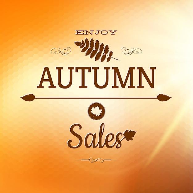 秋の紅葉と秋のバナーをお楽しみください。 Premiumベクター