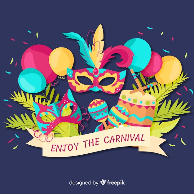 Enjoy the carnival Free Vector
