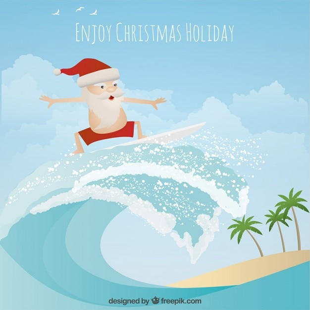 Enjoy christmas holidays Free Vector