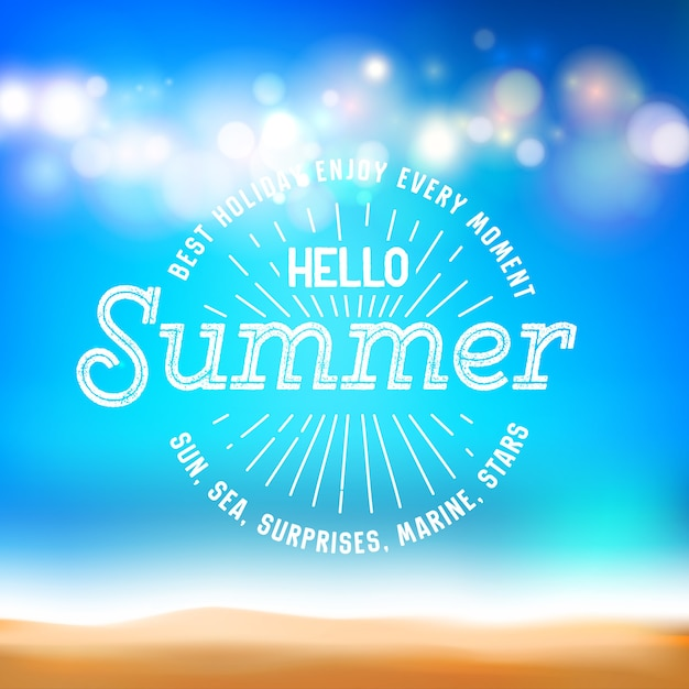 Goditi il segno di ogni momento e ciao estate sulla carta di soggiorno. Vettore gratuito