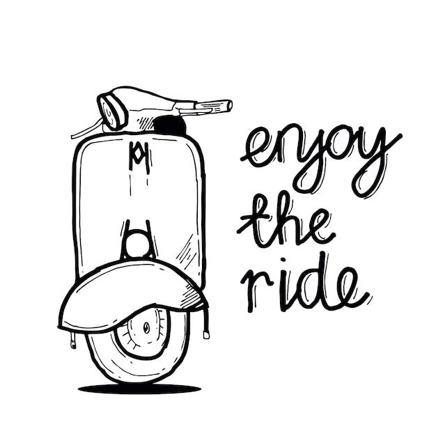 Enjoy the ride Premium Vector