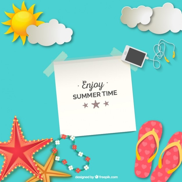 Enjoy summer time background Free Vector
