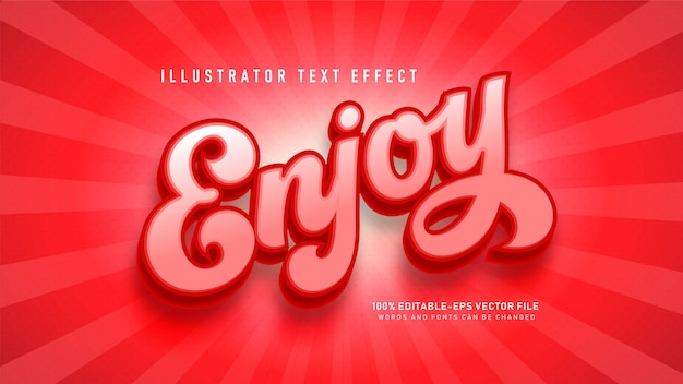 Enjoy  text style effect Free Vector