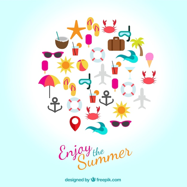 Enjoy the summer icons