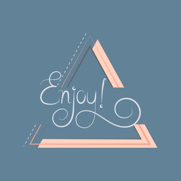 Enjoy typography badge design vector Free Vector