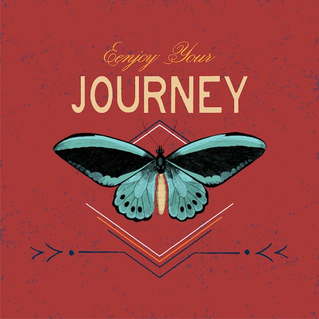 Enjoy your journey logo design vector Free Vector