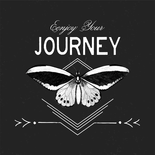 Enjoy your journey logo design vector Free Vector